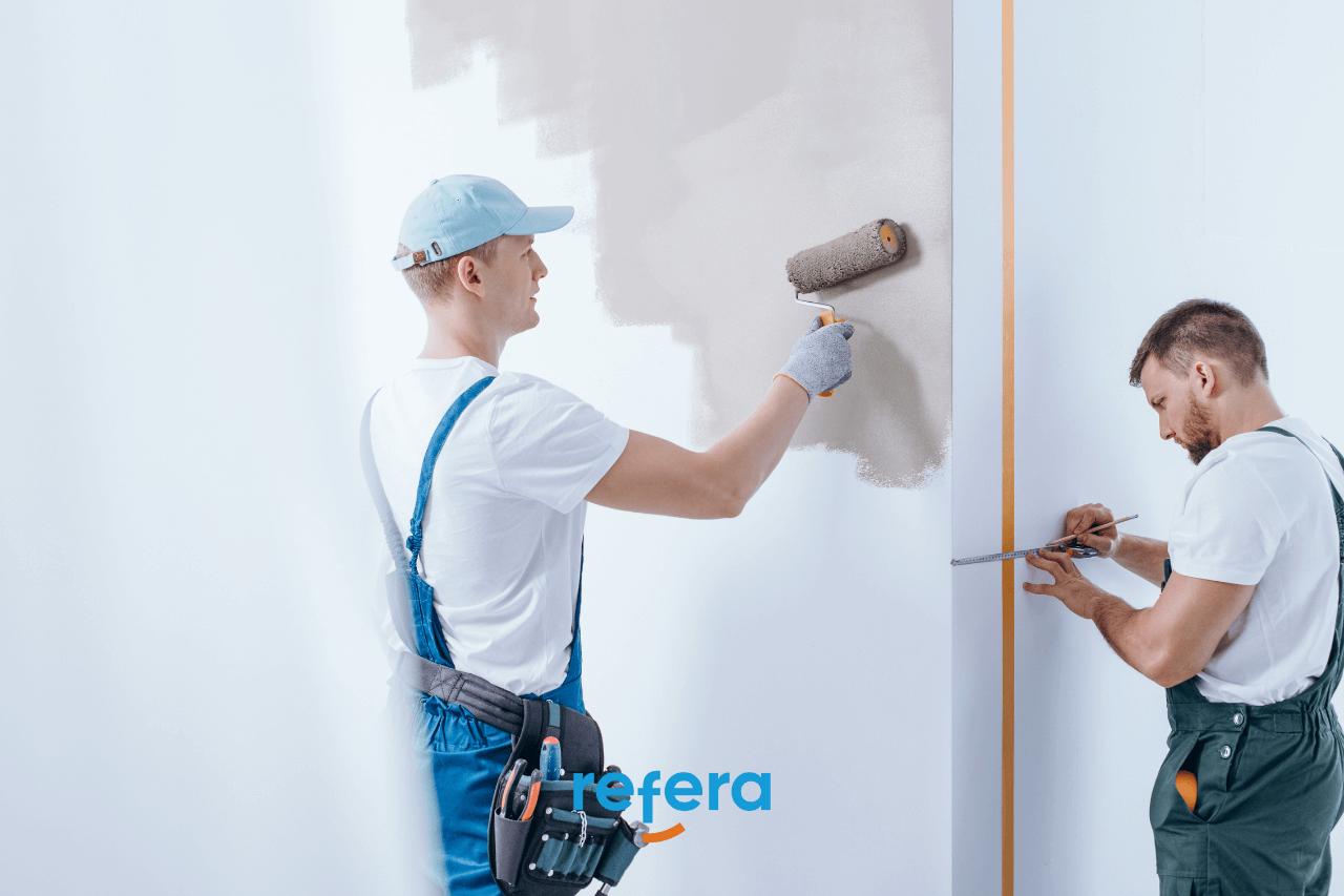 Capa do artigo de tendências para prestadores ilustrando 2 pintores trabalhando
